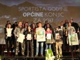 Dodjela priznanja najuspješnjim sportistima općine Konjic za 2017.-u godinu.